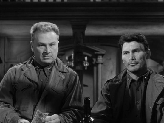 Eddie Albert and Jack Palance