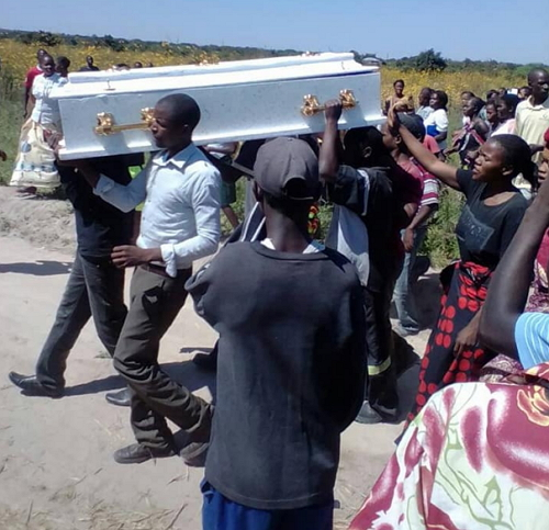 moving coffin rejects burial