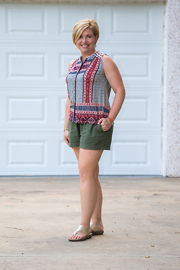 olive shorts, summer fashion, summer outfit