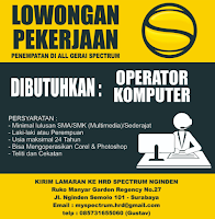 Lowongan Kerja Surabaya di Gerai Spectrum Nginden Januari 2021
