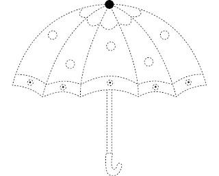dibujo de paraguas para colorear