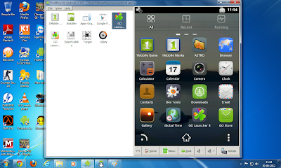 YouWave interface on Windows