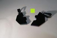 hinten: UM Schmuck Rostfreier Stahl Puzzle Paare Halskette fur Sie und Ihn Tai Chi Yin Yang Teilt Anhanger