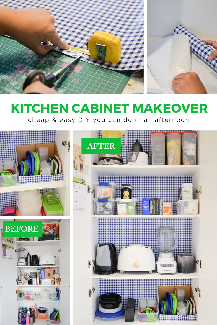 kitchen cabinet makeover, shelf liner adhesive, cheap kitchen cabinet makeover, diy kitchen cabinet refresh