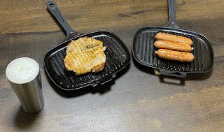 LAVA ホットサンドトースターで肉を焼く