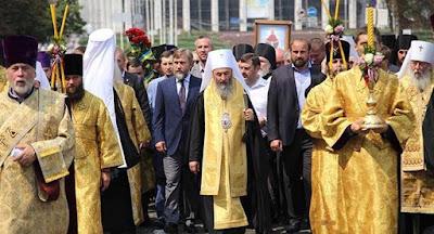 В Киеве состоялся крестный ход УПЦ МП в честь годовщины крещения Руси