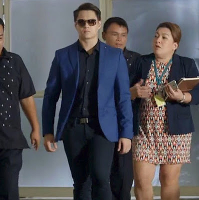 Enrique Gil in a scene from Dolce Amore with secretary Connie
