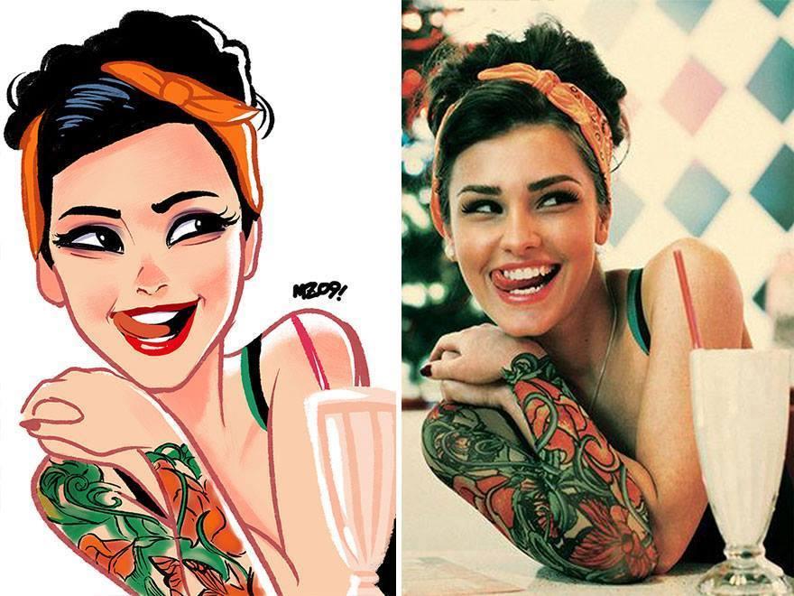 fotos transformadas em caricatura 05 - Pessoas transformadas em Caricaturas