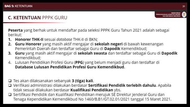 seleksi PPPK guru 2021