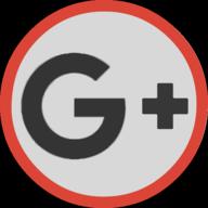 google plus button outline