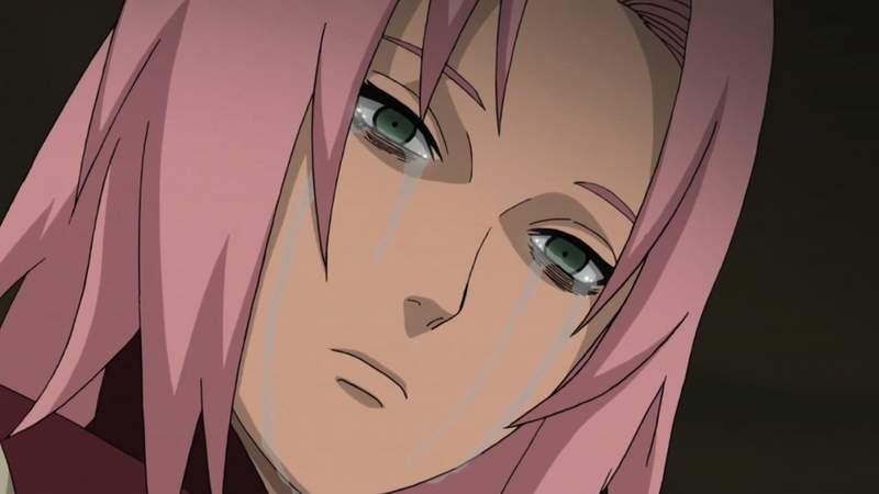 Sakura menangis