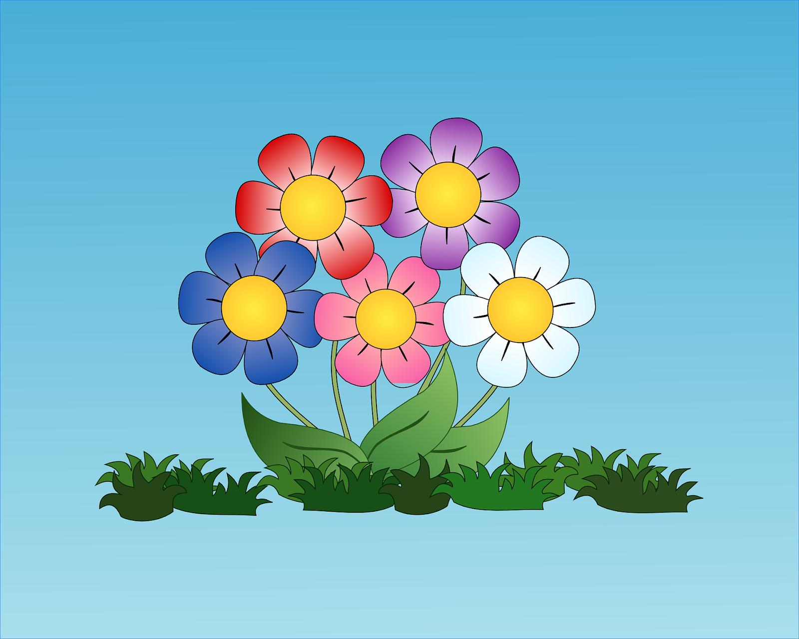 20 Gambar Bunga Kartun Terbaik Server Gambar