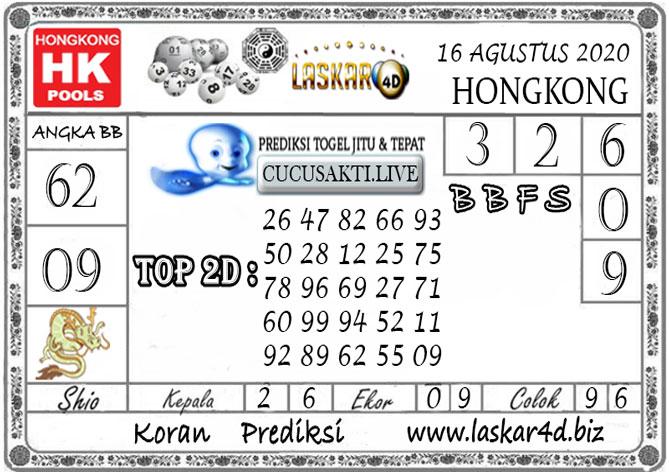 Prediksi Togel HONGKONG LASKAR4D 16 AGUSTUS 2020