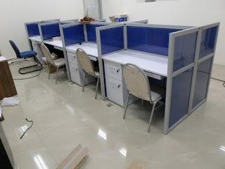 Cubicle Workstation 8 Staff + Furniture Semarang (meja sekat)