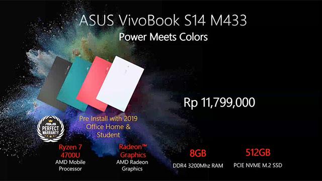 Harga ASUS VivoBook S14 M433 di Indonesia