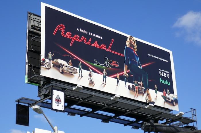 Reprisal Hulu series billboard