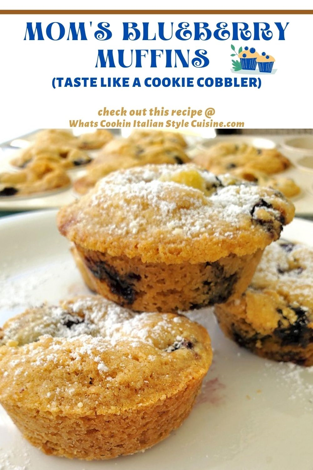 this is a pin on how to make blueberry muffins from scratch
