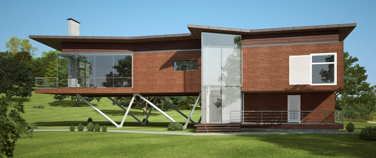 3D Modern domestic front elevation - e2 Homes, Inc.- Award Winning Custom ....com: Modern domestic front elevation - e2 Homes, Inc.- Award Winning Custom ... House-Home ... - Front Elevation Modern House