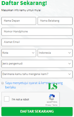 Formulir pendaftaran Grabbike Banjarmasin