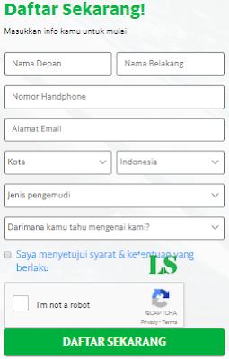 Formulir pendaftaran Grabbike Yogyakarta