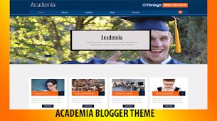 Academia Premium Blogger Theme - Responsive Blogger Template