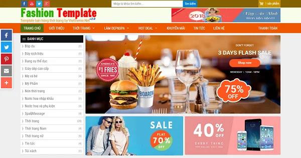 Template blogspot thời trang, spa, làm đẹp