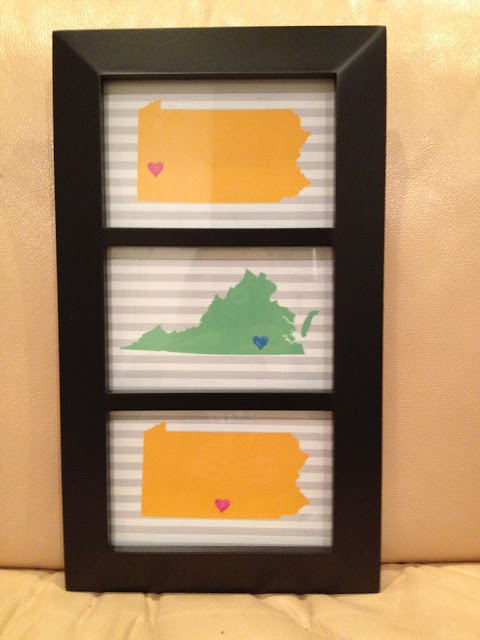 mother's day, states frame, gift, children, mother, mom
