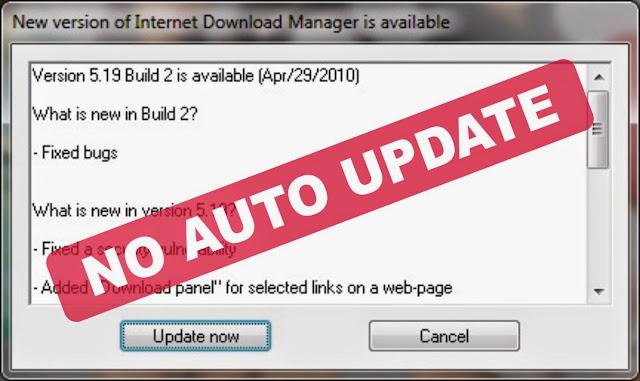 Cara Disable IDM Update
