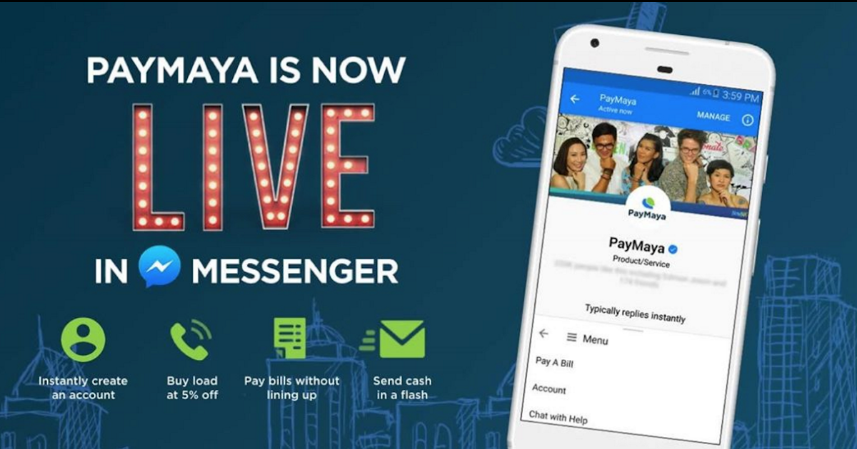 PAYMAYA Gets Even Easier to Use with FB MESSENGER Chatbox Support