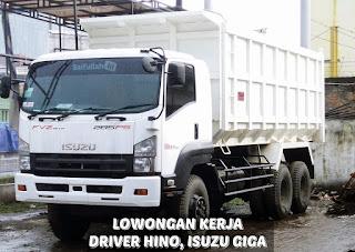 Lowongan Kerja Driver DT (Hino, Isuzu Giga) PT Karunia Bumi Khatulistiwa Kalbar