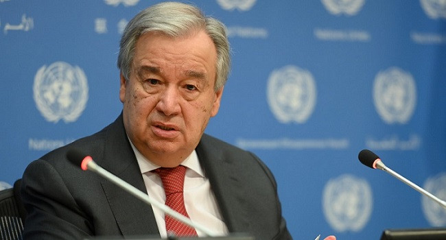 United Nations chief asks individuals and nations to contribute $35bn for WHO's initiatives to fight Covid-19