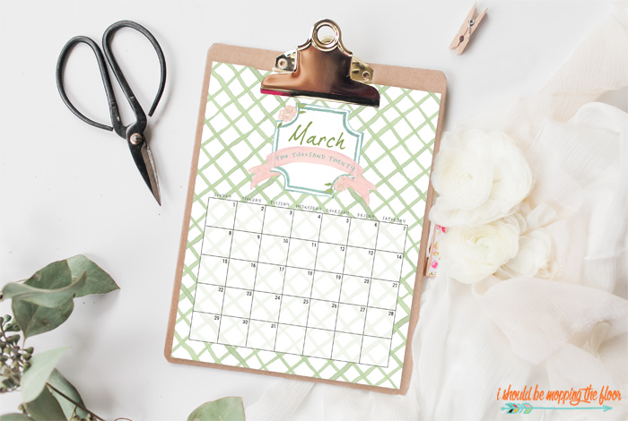 Printable French Garden Calendar