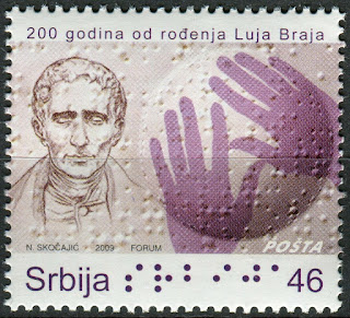 Serbia 2009 Louis Braille Luja Braja