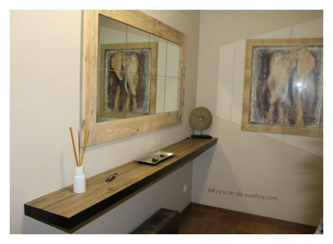 Mi rinc n de sue os hacer con un palet un marco para un for Como hacer un espejo con marco de madera