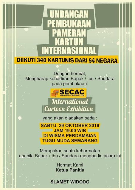 Undangan pembukaan SECAC International Cartoon Exhibition 2016