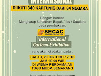 Undangan pembukaan SECAC International Cartoon Exhibition 2016