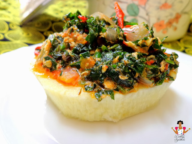 Vegetable Egg Stew With Fluted Pumpkin  U201cugu U201d Leaves