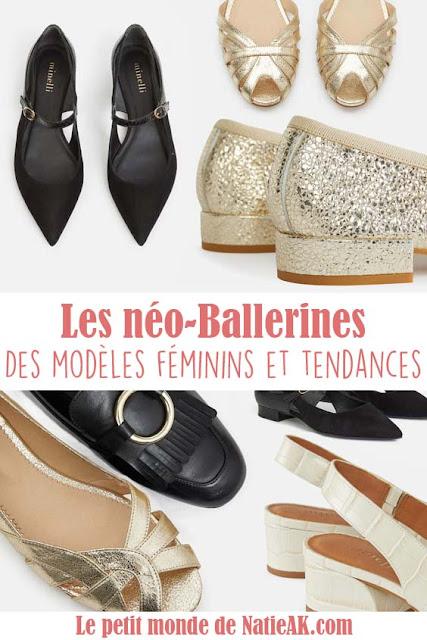 différents modèles de ballerines tendances