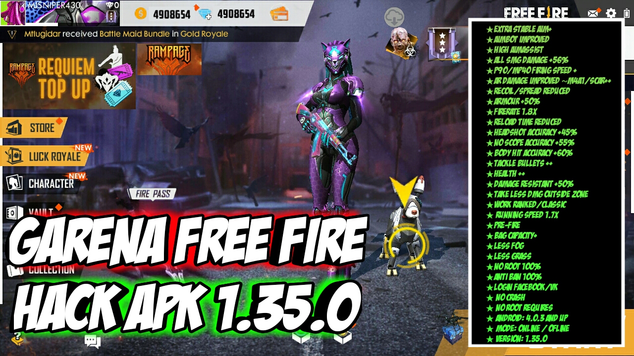 Garena Free Fire Mod Apk 1 35 0 For Android