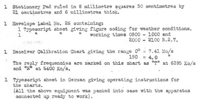 KV 2/26 - folio 2a - Report on Josef Jakobs' transceiver by Inspector Leonard W. Humphrey of the Radio Security Service (National Archives)