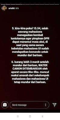 Fakta 7 Tuntutan Demo Mahasiswa di Gedung DPR Kemarin