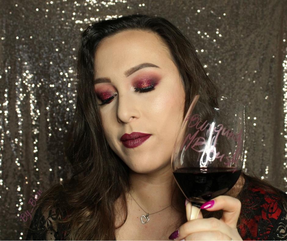 Burgundowy makijaż konkursowy - JUVIA'S PLACE