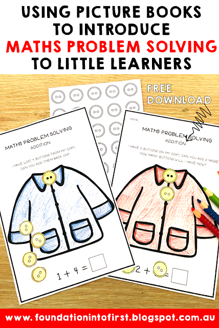 Using picture books to introduce maths problem solving to little learners. Free teaching download available for subscribers. #techteacherpto3 #mathsproblemsolving #mathproblemsolving #math