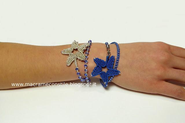 MACRAME MARGARETENSPITZE stelle bracciali