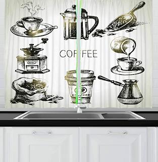 Koffie en gordijnen
