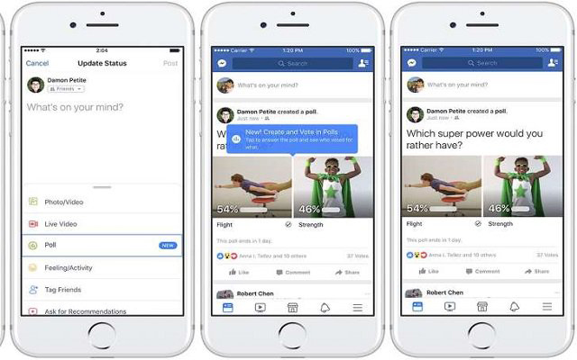 Facebook Introduces a Simple GIF Supported-Polls Feature for web & Mobile