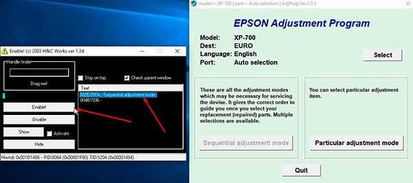 Download resetter Epson Expression XP-700