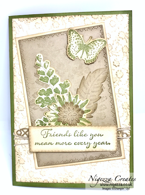 Nigezza Creates with Stampin' Up! Positive Thoughts Card For Stamp N' Hop Blog Hop Tutorial