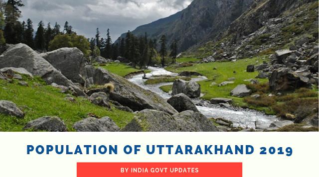 Population of Uttarakhand 2019
