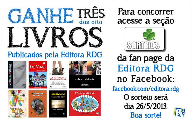 Promoção  ganhe 3 livros da Editora RDG 81852f32d0173